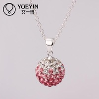 N054 Attractive Handmade AB clay shamballa necklace for women