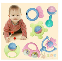 Free Shipping 6pcs Creative bell suit baby toys wholesale baby toys A bell 0-1 year old children Educational toys