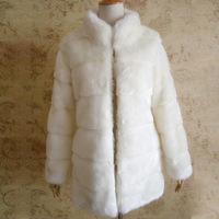 women's coat ,2014 winter wide  rabbit fur  faux fur coat ,long overcoat, fox fur outerwear ,plus size s - 4Xl is_customized