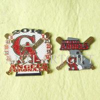 Free Shipping 2 types red glitter baseball pin