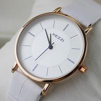 2014 New Fashion High Quality KEZZI Brand Leather Strap Watches living waterproof quartz Watch Relogio clock