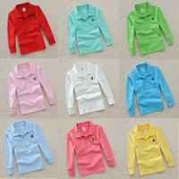 Children's clothing male child stripe polo shirt child T-shirt long-sleeve shirt turn-down collar cotton 100%