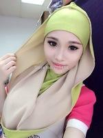HW030a muslim chiffon hoody,muslim hijab scarfs shawls free shipping,fast delivery,assorted colors