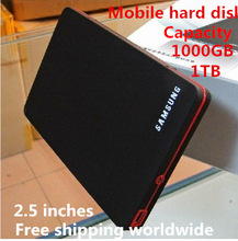 Wholesale 1000 gb mobile hard disk  new high-speed mobile hard disk 1TB HDD USB2.0 external hard drive free worldwide shipping(China (Mainland))