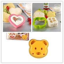 2014 nova conveniente urso coração Clover forma Sandwich Bread Mold Mold bolo criador DIY cortador de artesanato de cozinha ferramenta de cozimento(China (Mainland))
