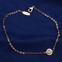 Italina Rigant Simple classical design women girls jewelry/round Austria crystal 18k gold plated Bracelet  WL0684