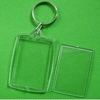 Free Shipping 100PCS Blank Acrylic Round Circle Keychains Insert Photo Key rings 3.2*4.6 cm Free Shipping