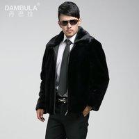 Free shipping 2014 mink male mink outerwear fur coat