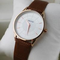 New Fashion KEZZI Brand Watches Lady's Wristwatch, Delicate Women Watch Ultrathin Leather Strap Dress Watch Clock