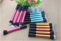 5 Pieces Soft Hair Dense Pink Gold Blue Makeup Brush Cosmetic Complete Kit