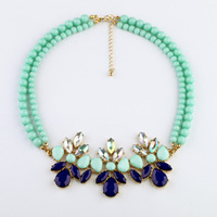 New Designer 2014Fashion jewelry Beaded Chain Drop Pendant Necklace For Christmas Gifts