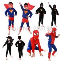 Free shipping Halloween children show superman suit - children Batman suit A superhero costume Spider-man clothes