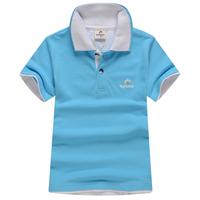 Children's clothing 2014 summer child t-shirt male child short-sleeve polo shirt child 100% turn-down collar cotton t-shirt