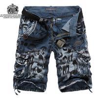 2014 Mens Cargo Shorts,Casual Mens Shorts,Multi Pocket Military Shorts for Men,Army Men summer loose casual shorts
