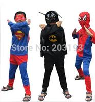 Free shipping 10pcs Halloween children show superman suit - children Batman suit A superhero costume Spider-man clothes