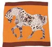 140x140cm large square orange real silk twill  horse scarf /pure silk muslim  poncho pashminas shawls free shipping