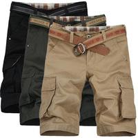 Summer plus size men's cargo shorts casual shorts male loose capris beach shorts thin knee-length shorts breeches