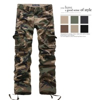 Hot selling men's overalls long trousers casual loose pants Military Pants lovers design Camouflage Cargo Pants cotton pants