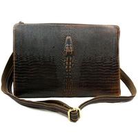 Luxury genuine leather men messenger bag fashion CROCODILE Day clutch bags men business shoulder bag wholesale
