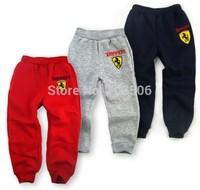 Free shipping! 1pcs 2014 spring autumn children boys girls sports pants kids cotton leisure pants full length