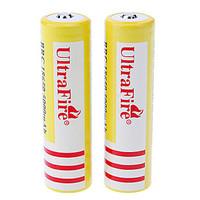 2pcs BRC 5000mAh 18650 Li-ion Rechargeable Battery Yellow