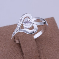 Free Shipping 925 Silver Rings,Fashion 925 Sterling Silver Zircon Rings,Wholesale Fashion Jewelry,WKNR153