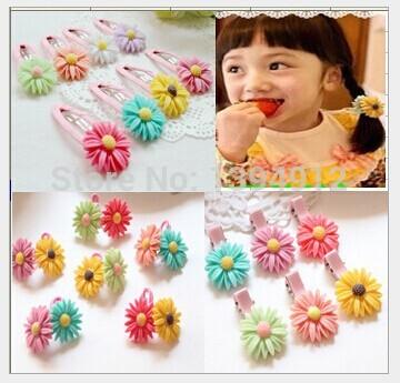 2014 new children's hair accessories baby girls Daisy BB clip hairpin edge clip daisy(China (Mainland))
