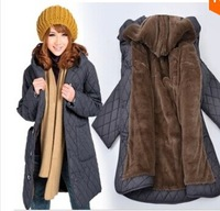 Quinquagenarian medium-long cotton-padded jacket women's mother clothing cotton-padded jacket wadded jacket outerwear plus size
