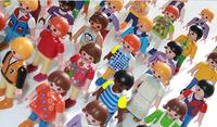 Playmobil middle size 5cm  30pcs/set  playmobil toys figures blocks  play game  children  toy 3