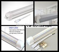 30Pcs/lot Led fluorescent 20W T8 led integration tube light milky pc cover tube lamp holder 1.2m 85V-265V input T508