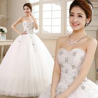 New design 2014 bling diamond decorationsweetheart  wedding dress