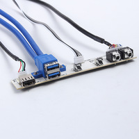 PC Computer Case PCB Front Panel USB 3.0 + USB 2.0 + AV + Power switch + Reset Switch Port Cable