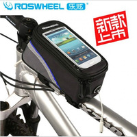 SPORTWOLF black Bike Bicycle 5.5 inch bag Cycling Frame Tube Panniers Waterproof Touchscreen Phone Case Bag
