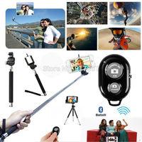 Selfie Extendable Handheld Telescopic Monopod Wireless Bluetooth Remote Control For GoPro Hero 1/2/3 Camera iPhone