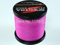 Wholesale 4 strands PE Dyneema Braided Fishing Line 500M Pink 100LB 0.55mm 547 Yard Spectra Braid fishing line FREE SHIPPING