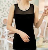 The new spring 2014 sexy lace modal sleeveless belt vest women render unlined upper garment