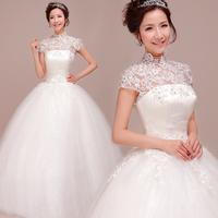 2014 vintage elegant wedding dress lace flower