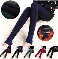 Plus Size 2014 New Women's Plus Velvet Leggings Fashion Thick High Waist Step Leggings Winter Brand Ankle Length Trousers