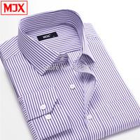 Autumn Male Stripe Shirt easy care  long-sleeve shirt casual  men shirt camisa masculina mens dress shirt camisa social 1036