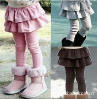 2014 children's clothing female child autumn and winter plus velvet thickening legging child trousers culottes pencil