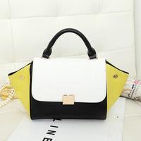 Women's Handbag ,bat hit the color PU package, luxury handbag triangle women messenger bag
