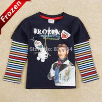 Free Shipping New 2014 Brand Nova Frozen Boy T shirts 100 % Cotton Kids Long Sleeve T shirt Boy Tops Child Clothes