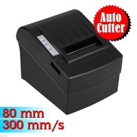 High Speed POS Thermal Receipt Printer 80mm Auto Cutter USB/Ethernet/Serial--300mm/s