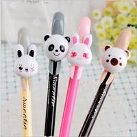 Free ship 1lot=24pcs/korean stationery kawaii Lovely creative small animal neutral pen cartoon gel pen school supplies