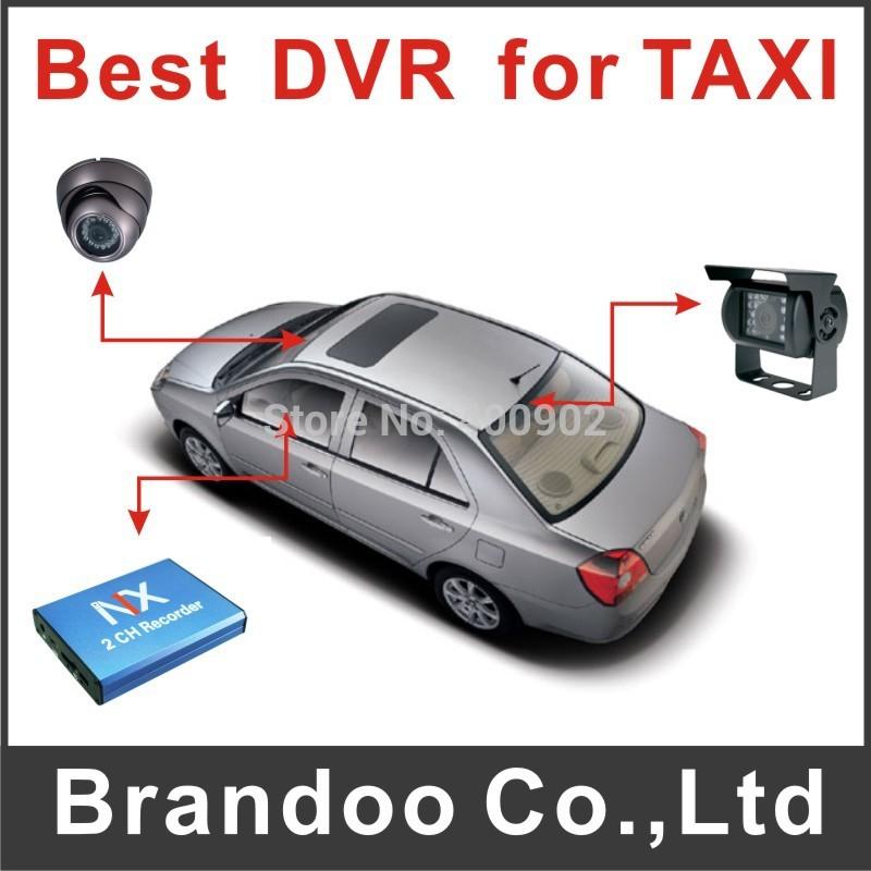 Free Shipping 2 Channel,VGA resolution, 128GB SD, car taxi bus, hidden car camera dvr(China (Mainland))