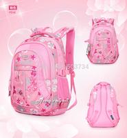 2014 new Flower child school bag in primary school students school bag male girls backpack ultra-light waterproof