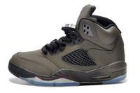 5 Retro Basketball Shoe  Classical V basketball boots leather men's bulls basketball shoes
