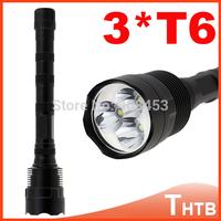 TrustFire 3T6 3800 Lumens 3 x CREE XM-L T6 5-Mode tactical LED Flashlight warerproof Torch Lamp + Extendable Tube