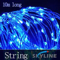 wholesale colourful led Christmas decoration lamp ,10m long ,100 pcs/lot
