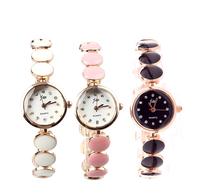 Fashion Elegant Women Ladies Girls Wrist Watches Round Othello Strap Quartz Analog Watch Bracelets Rose Gold